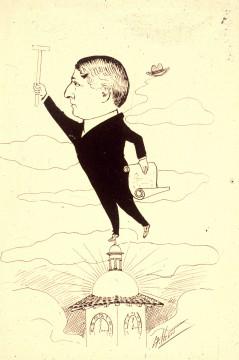 Kirtland Kelsey Cutter Caricature 1904