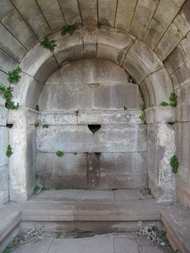 Barrel vaulted interior of the tomb of Publius Varius