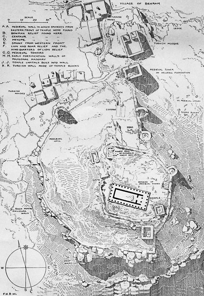 Plan Assos Temple of Athena and Mosque