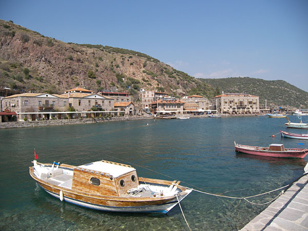 The harbor of Assos in 2014